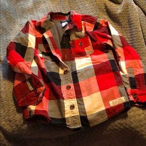 Boys buffalo plaid flannel shirt